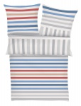 s.Oliver Bettwäsche 4040-660 blau- weiss 100% Baumwolle Bloskstreifen-Muster