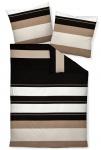 Janine Mako-Satin Bettwäsche J.D. taupe-sand 87031-07 aus 100 % Baumwolle modern