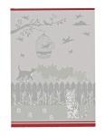 Ross Baumwolle Geschirrtuch 2er Set 1808-88 Katzen silber - grau 50 x 70 cm