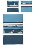 Irisette Mako-Satin Bettwäsche EOS 8777-20 blau maritim 100% Baumwolle