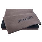JOOP! Uni-Dubleface Wohndecke 150 cm x 200 cm Taupe / Anthrazit