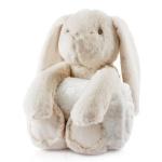 Biederlack Kids Dream Set Rabbit / Hase 75x100cm Decke, Kuscheltier 25 cm, grau