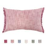 Winkler Kissenhülle JET 30 x 50 cm mit Fransen 100% Baumwolle einfarbig