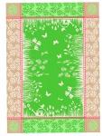Ross Baumwolle Geschirrtuch 2-er Set 1808-3 floral grün 50 x 70 cm