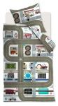 Beddinghouse Kinderbettwäsche KIDS Highway Multi | 135 x 200 cm | 100% Baumwolle