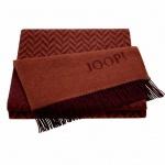 JOOP! Zigzag Wohndecke Rot 130 cm x 180 cm Wolle-Kaschmir Mischung