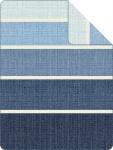 s.Oliver Jacquard Decke 2287-600 blau 150 x 200 cm Baumwollmischung Blockstreifen