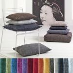 Pichler Kissen Harris, malierter Tweed, 50x50cm, in 14 Farben