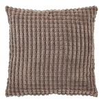 Dutch Decor Kissenbezug Rome taupe 70 x 70 cm 100% polyester Velour mit RV Struktur-Muster