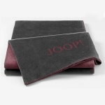 JOOP! Uni-Dubleface Wohndecke 150 cm x 200 cm Schiefer-Rouge Baumwollmischung