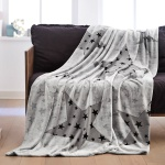 s.Oliver Decke STERNE | grau | 150 x 200 cm 100% Polyester Flanell-Touch