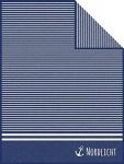 Ibena Wohndecke Nordlicht 150 x 200o cm blau weiss gestreift Baumwollmischung