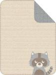 S.Oliver Kinder Kuschel-Decke 1114 Waschbär beige 75 x 100 cm Baumwollmischung