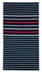 JMA Strandtuch, Strandlaken Arkhipelagos Quiet Waves Extra Groß 100 x 180 cm marine 100% Baumwolle