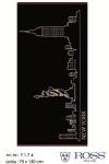 Ross Strandtuch New York 75 x 150 cm Walk-Frottier schwarz / bunt 100% Baumwolle
