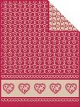 Ibena Jacquard Decke Tirol rot 150 x 200 cm
