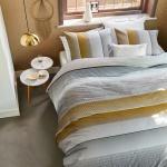 Beddinghouse Bettwäsche Senn Grey Blockstreifen Verlaufmuster 100 % Baumwolle