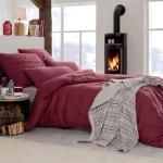 Estella Flanell Bettwäsche Latemar 5803-405 vino weich und wärmend für den Winter