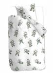 Beddinghouse Kinderbettwäsche Astronaut grey | 135 x 200 cm | 100% Baumwolle
