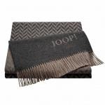 JOOP! Zigzag Wohndecke Anthrazit 130 cm x 180 cm Wolle-Kaschmir Mischung elegant
