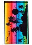 Ross Strandtuch Tropic Insel 75 x 150 cm Walk-Frottier bunt-schwarz 100% Baumwolle
