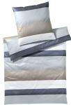 JOOP! Bettwäsche Purity 4073-07 sand 100% Baumwolle elegant Blockstreifen