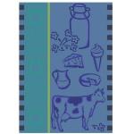 Ross Baumwolle Geschirrtuch 1642-2 Kuh blau 50 x 70 cm 100 % Baumwolle