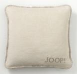 Joop! Kissenhülle Baumwollmischung Pergament-Sand uni 50 x 50 cm mit RV