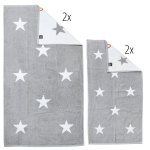 done.® DAILY SHAPES STARS Handtuch Set 4-tlg.