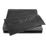 JOOP! Uni-Dubleface Wohndecke 150 cm x 200 cm Anthrazit-Schiefer