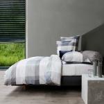 HnL Velvet Touch Bettwäsche Marin blau aus Baumwolle