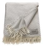 Schöner Wohnen Plaid Tebas hellgrau 140 x 200 cm Baumwollmischung mit Fransen