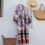Bassetti Granfoulard Kimono LEVANTE V5 puderrosa 100% Baumwolle Paisleymuster
