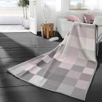 Biederlack Wohndecke Cotton Home 7 Check rosa 150 x 200 cm Baumwollmischung