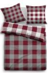Tom Tailor Flanell Wendebettwäsche 9866-840 barolo rot aus 100 % Baumwolle
