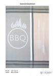 Ross Baumwolle Geschirrtuch 2-er Set 1812-5 Barbeque grau - beige 50 x 70 cm