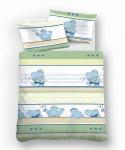 Biberna Kinderbettwäsche Hipo 7209-432 Biber 135 x 100 cm 100 % Baumwolle