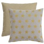 Scantex Kissenhülle Stella 40 x 40 cm sterling-gold Baumwolle mit RV Stern