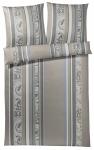 JOOP! Bettwäsche Paisley Stripe 4056-07 Stone Grey