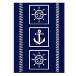 Ibena Wohndecke Maritim 150 x 200 cm blau weiss Baumwollmischung