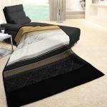 Biederlack Cotton-Home Decke Olivia 150 x 200 cm schwarz / beige