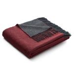 Biederlack Wolle-Kaschmir Plaid Warm Shades rot-anthrazit 130 x 170 cm klassisch
