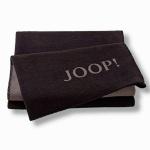 JOOP! Uni-Doubleface Wohndecke Ebony-Taupe 150 x 200 cm Baumwollmischung