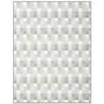 Biederlack Wohndecke Smooth 150 x 200 cm Karo-Muster naturfarben Baumwollmischung