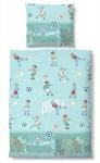 Biberna Linon Bettwäsche für Kinder 44879-222 ciel Fussball 100% Baumwolle