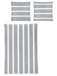Irisette Mako-Satin Bettwäsche EOS 8763-11 grau gestreift 100% Baumwolle