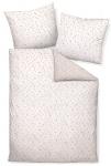 Janine Chinchilla Edelflanell Bettwäsche 78011-01 weiss-rosa wärmend 100% Baumwolle