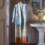 Bassetti Granfoulard Kimono LUINI V3 azur 100% Baumwolle Paisleymuster