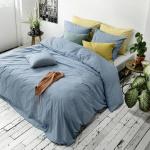 WALRA Bettwäsche The New Vintage blau, uni 100% Baumwolle User Look