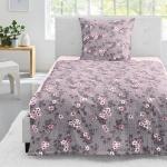 Irisette Edelflanell Bettwäsche Nubis-K geblümt plum 8019-80 aus 100% Baumwolle